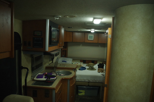 After new LEDs installed in the motorhome.