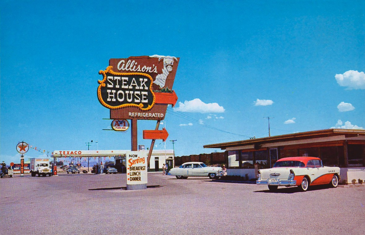 Allison's Steak House - Gila Bend, Arizona U.S.A. - 1950's