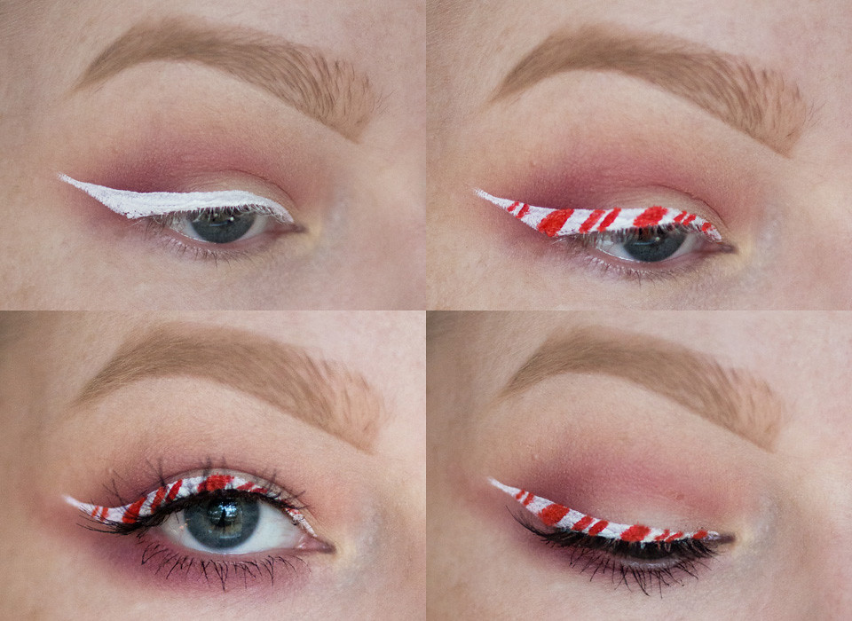 candy cane tutoriaali tutorial christmas makeup