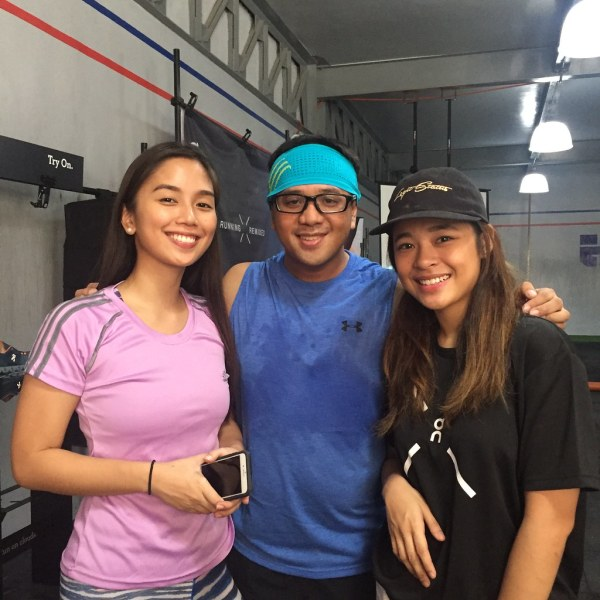 With Cai and Nica at On Cloud X Launch at Avant Garde Crossfit
