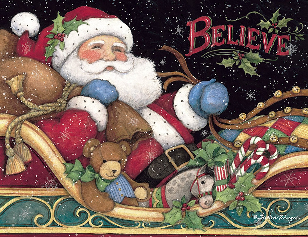 Believe in the magic of the season (Santa, Believe)
