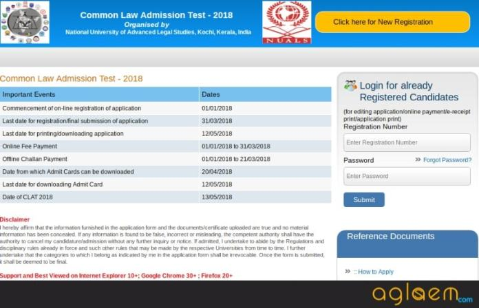 CLAT 2018 Application Form: Last Date - 31 March; Apply Online Now  %Post Title | AglaSem