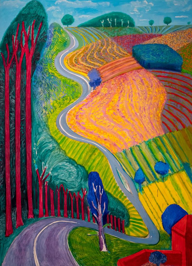 David Hockney Going Up Garrowby Hill 2000 11618 metmu