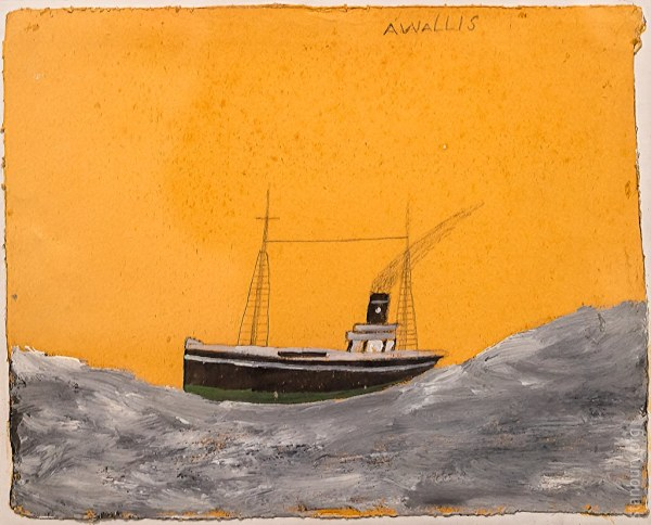 Alfred Wallis Ship Tall Waves Swindon Museum And