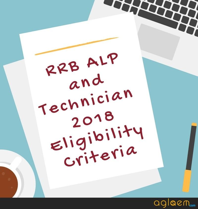 RRB ALP Eligibility Criteria 2018