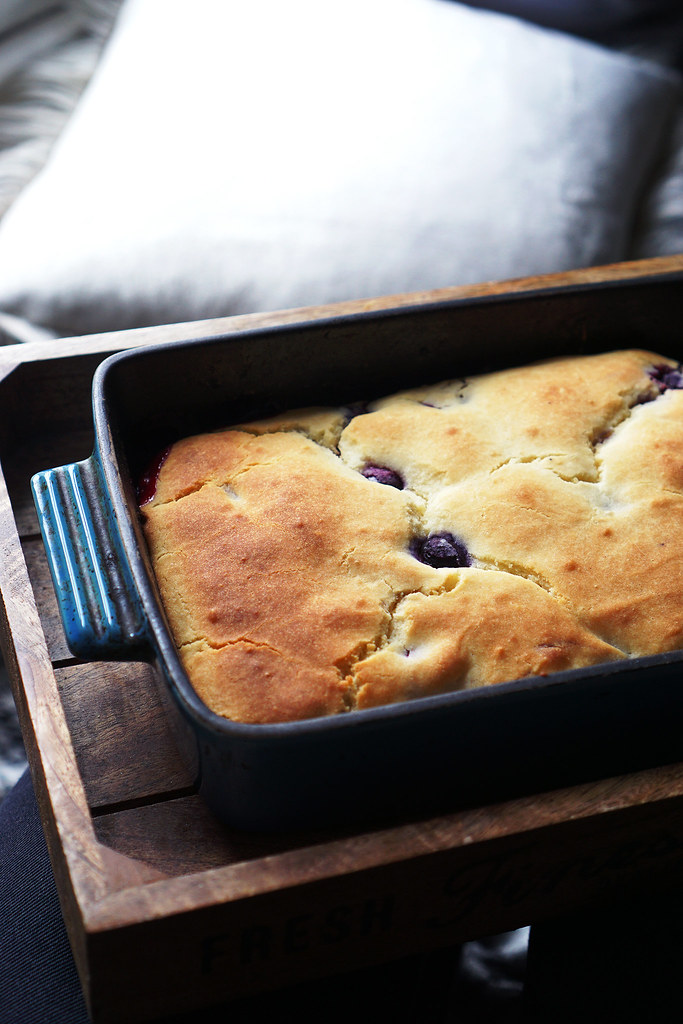 Gluten free blueberry cobbler recipe | made with Doves Farm gluten free self-raising flour