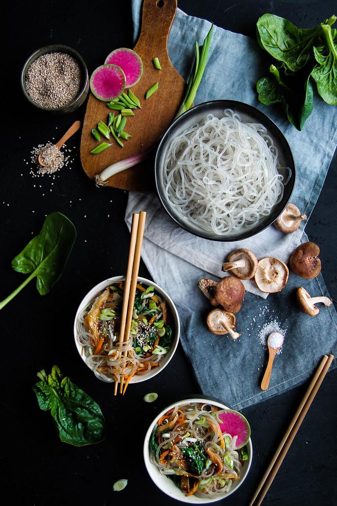 Nouilles sautées aux légumes vegan