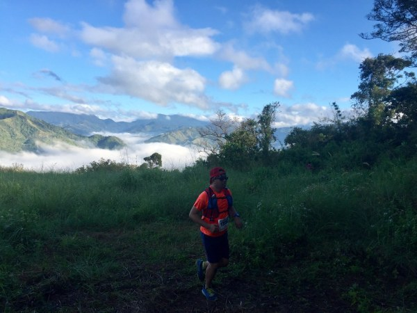 Running in a sea of clouds