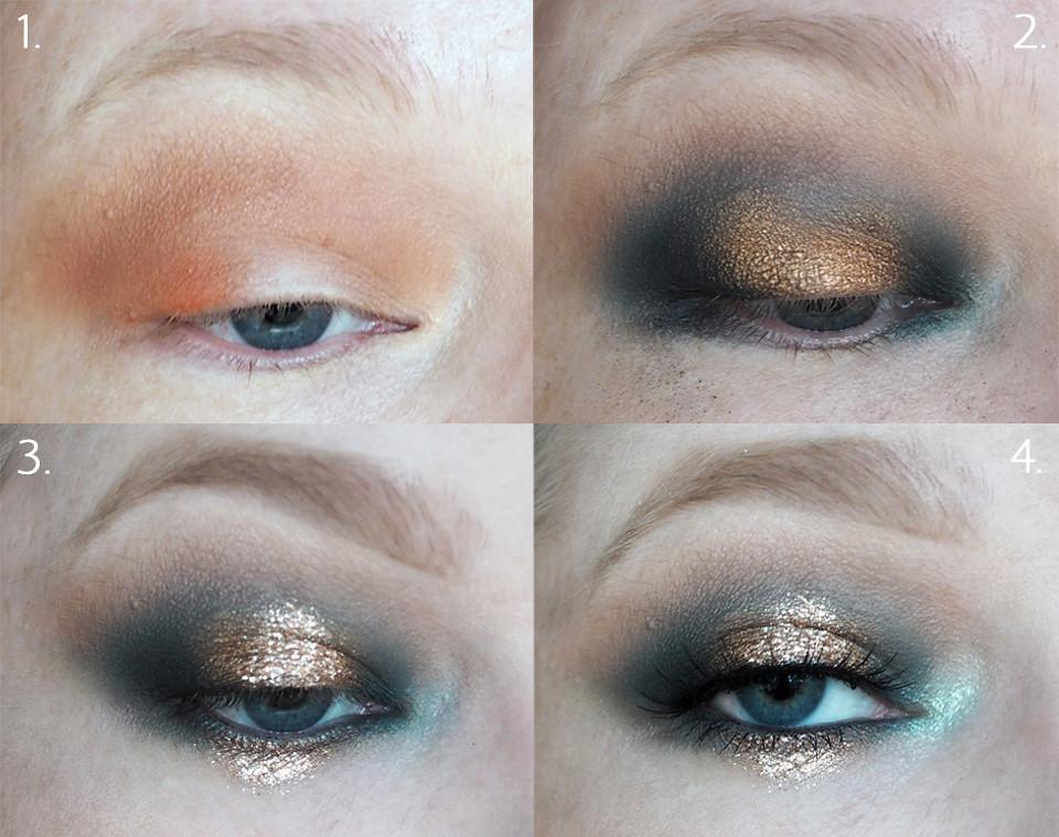 uuden vuoden meikki glitter