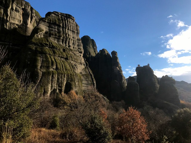 The Meteora rock pillars