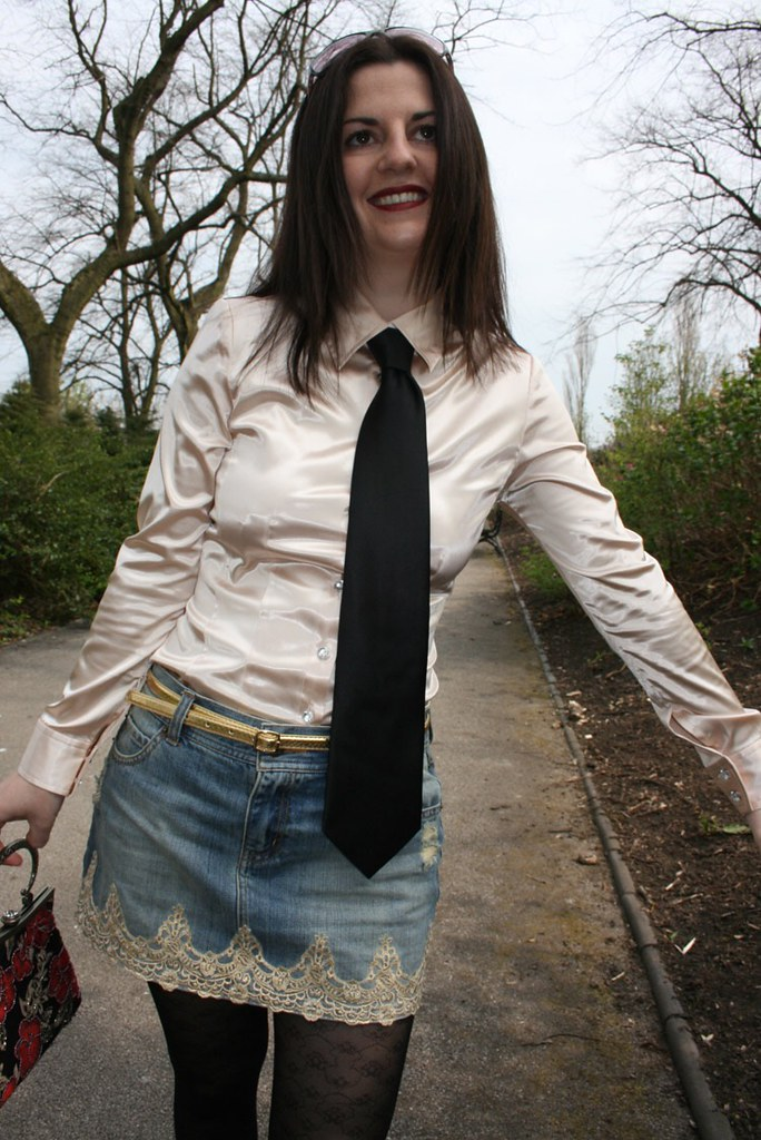 Satin blouse and Tie  Emma Sure  Flickr