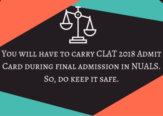 CLAT 2018 Admit Card - Download CLAT Admit Card at clat.ac.in  %Post Title | AglaSem