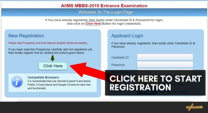 AIIMS 2018 Application Form / Registration (MBBS / UG) Re opened – Apply here