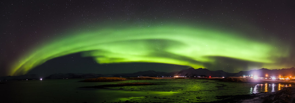 Northern Lights Hofn Iceland Seascape Photography