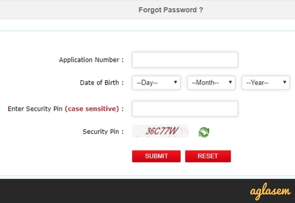 JEE Main 2018 Forgot Password Get By SMS