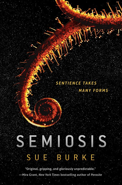The Cover to Semiosis by Sue Burke