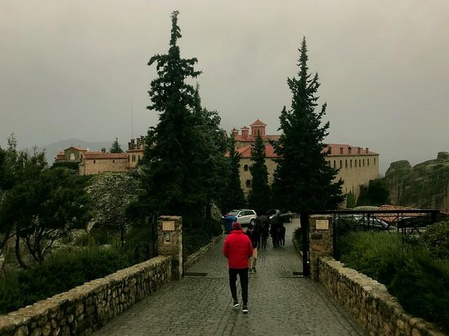 Pathway to St Stephen Monastery in meteora
