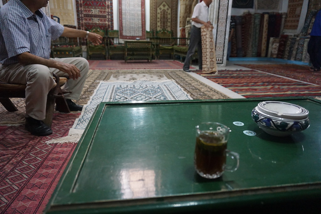 kairouan rug store tea