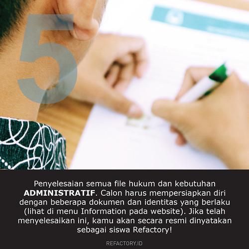Jika kalian lolos, maka persiapkanlah di tahap ini untuk memenuhi syarat administratif. Informasinya bisa kalian lihat di menu INFORMATION pada portal Refactory