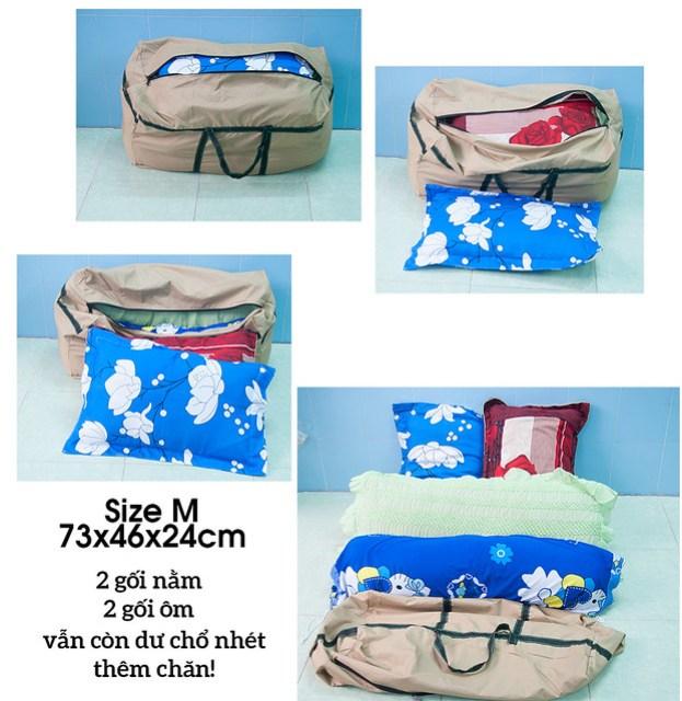 Túi đựng gối ôm, chăn màn, quần áo Cần Thơ 55L