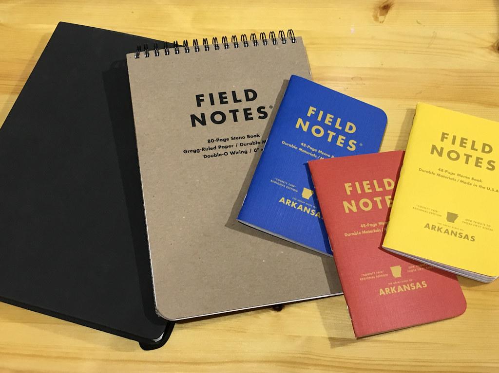 Field Notes - 5 blank notebooks