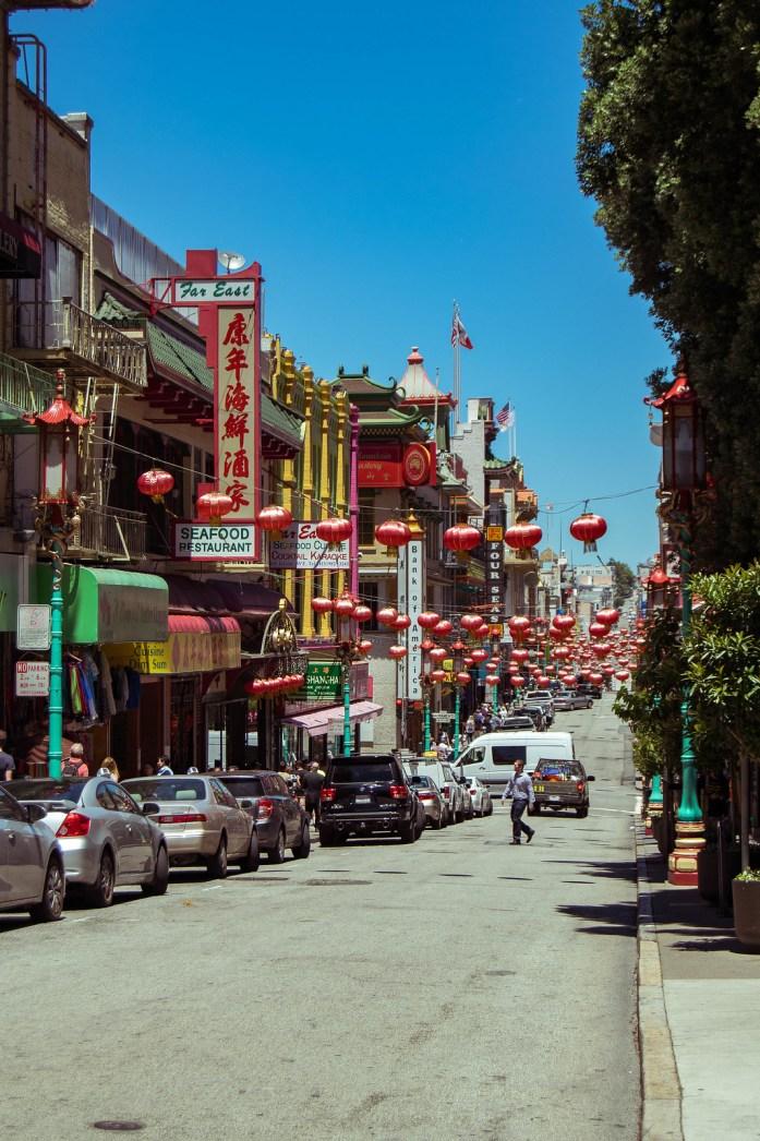 La calle más turística del barrio chino de San Francisco