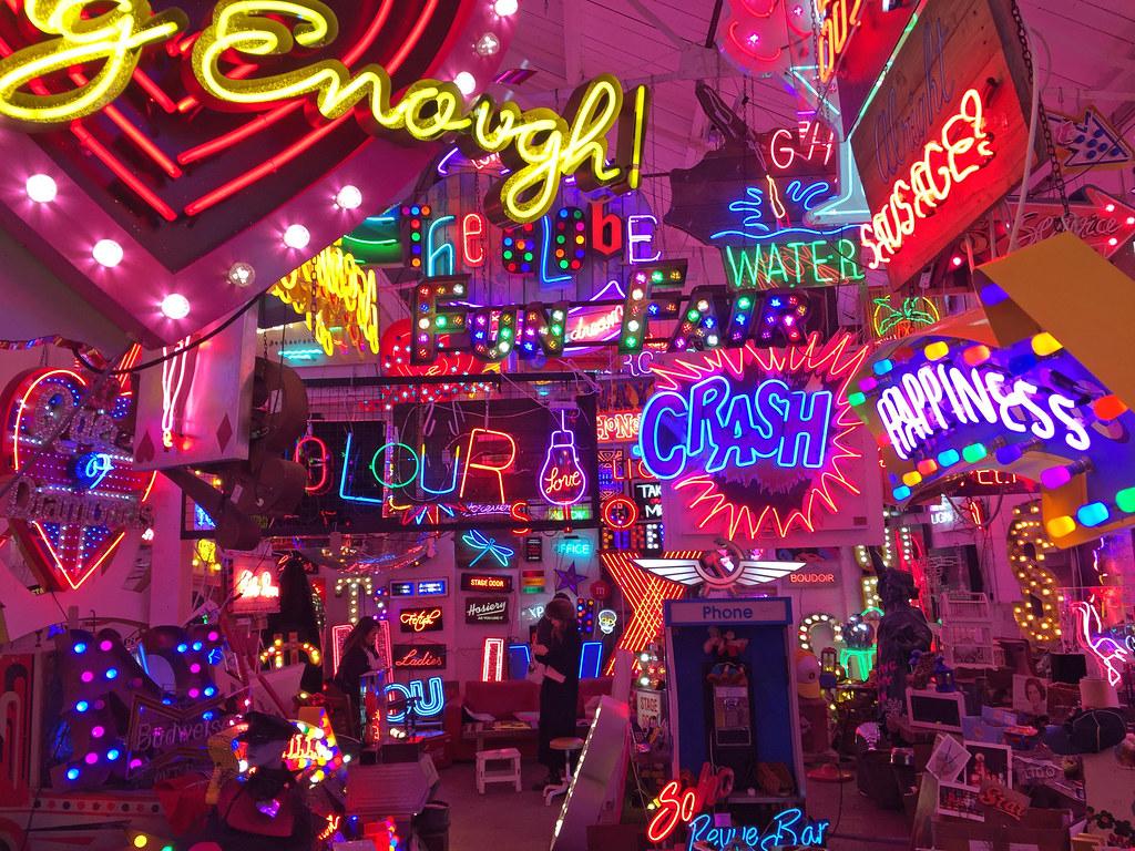 Gods Own Junkyard  Neon art hub plus cafe hidden away