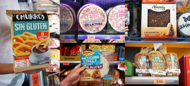 Gluten free churros, pizza, tortillas, cake and bread from Mercadona supermarket in Valencia | gluten free Valencia guide | gluten free Spain | Gluten free Travel