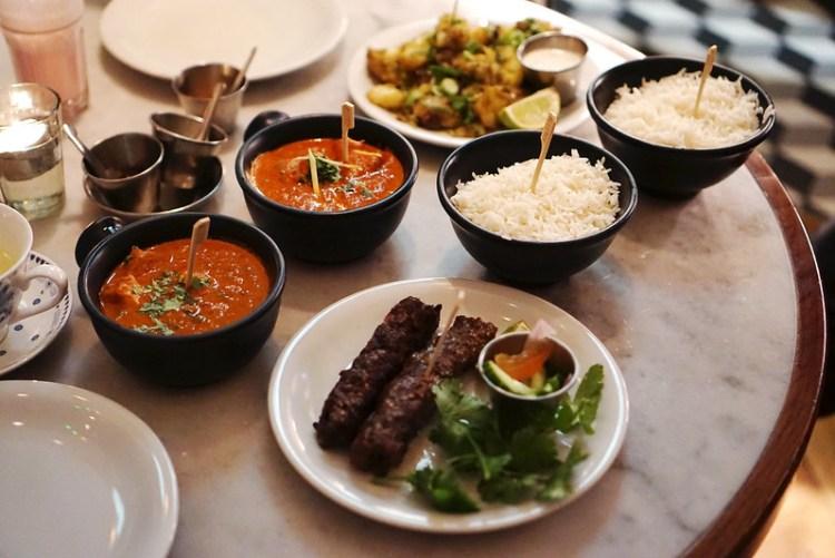 Curries, rice, koftas and potatoes from Dishoom | Gluten free Shoreditch guide | Gluten free London | Brick Lane | Old Street | Spitalfields | Hoxton | East London