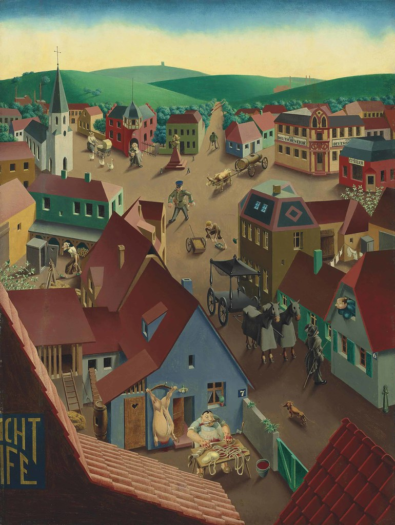 Georg Scholz  Small Town by Day 1923  Small Town by