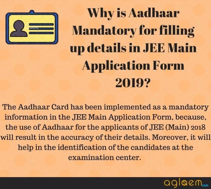 JEE Main 2019 Application Form