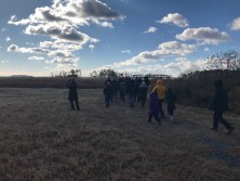 Photo of hikers at Harriet Tubman Underground Railroad Visitor Center's 2018 First Day Hike