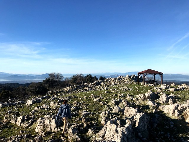 top of mount xiron on north evia