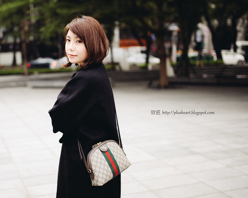 ▌Outfit ▌ 聖誕味: Gucci Ophidia Bag + Max Mara Lilia Cashmere外套 + Roger Vivier Sexy Choc