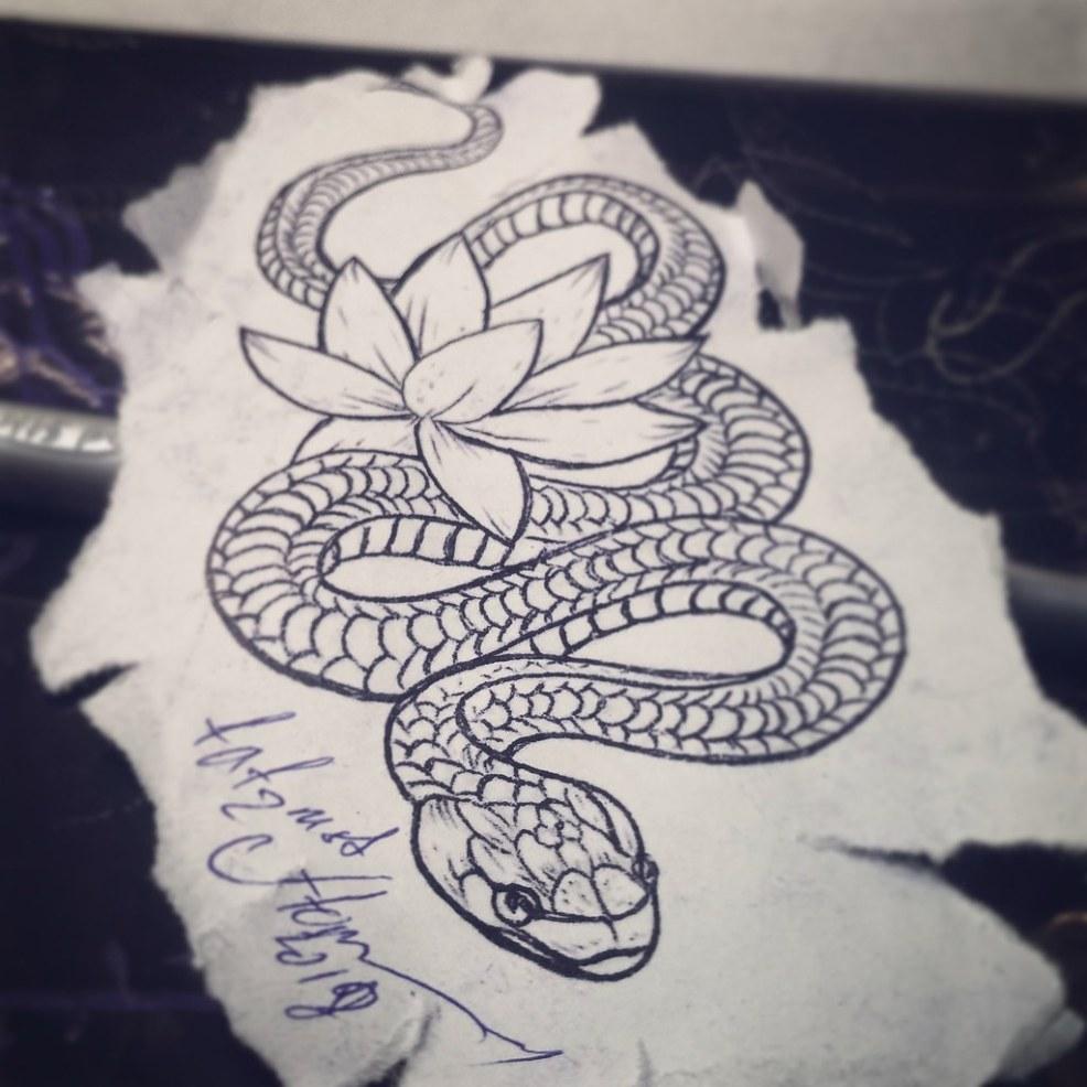 картинки тату змея