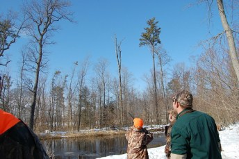 Photo f youth hunting waterfowl