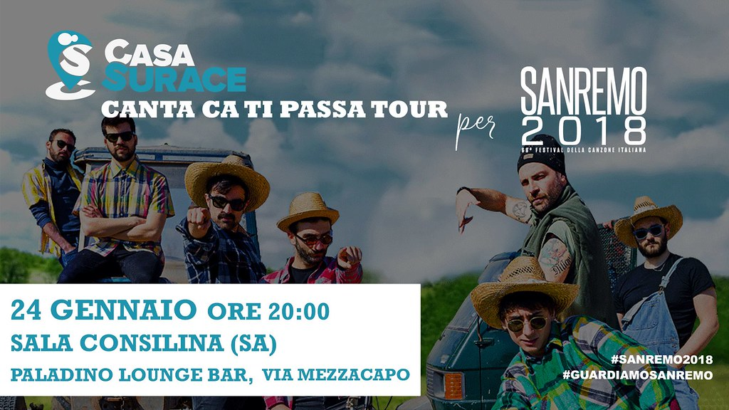 Casa Surace a Sanremo 2018 Il 24 gennaio il tour Canta