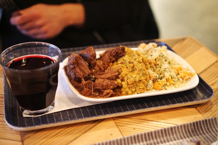 Gluten free beef brisket, lentils and quinoa from Farmstand   Covent Garden   Central London   100% gluten free