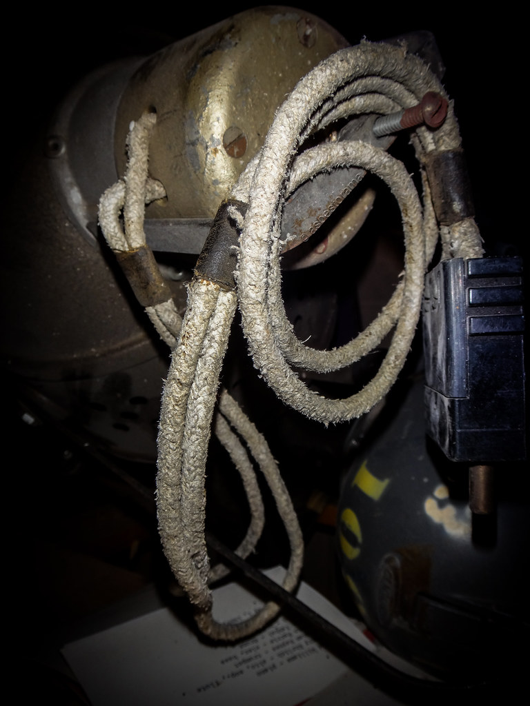 hight resolution of vintage stage lighting electrical wire asbestos insulation flickr rh flickr com asbestos attic insulation asbestos insulation
