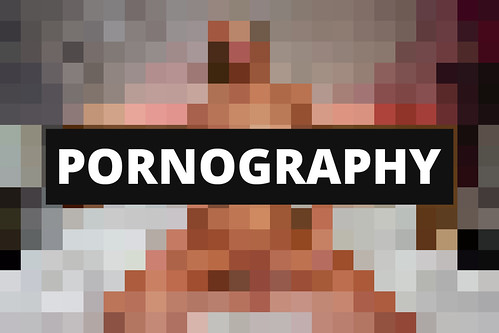 Pixelated pornography  A heavily pixelated  censored