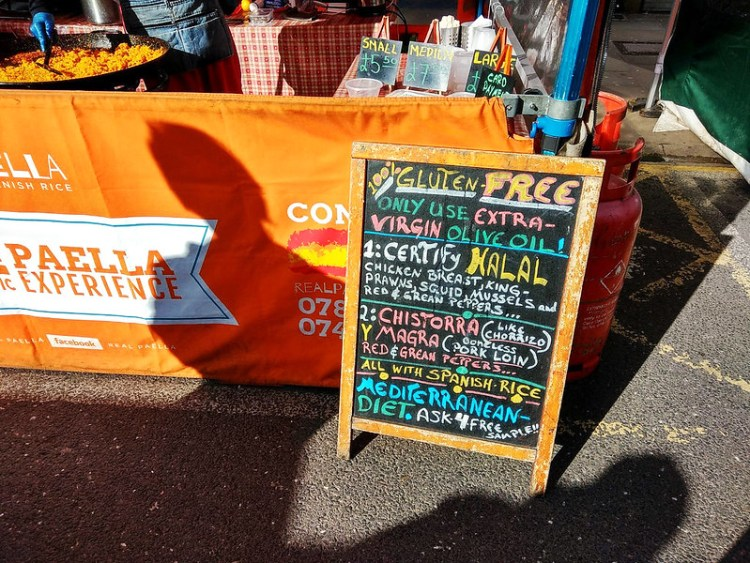 Real Paella market stall in Chapel Market | gluten free Islington guide | North London