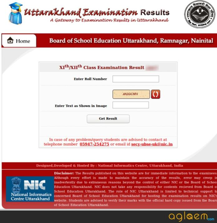 UK Board 12th Result 2018