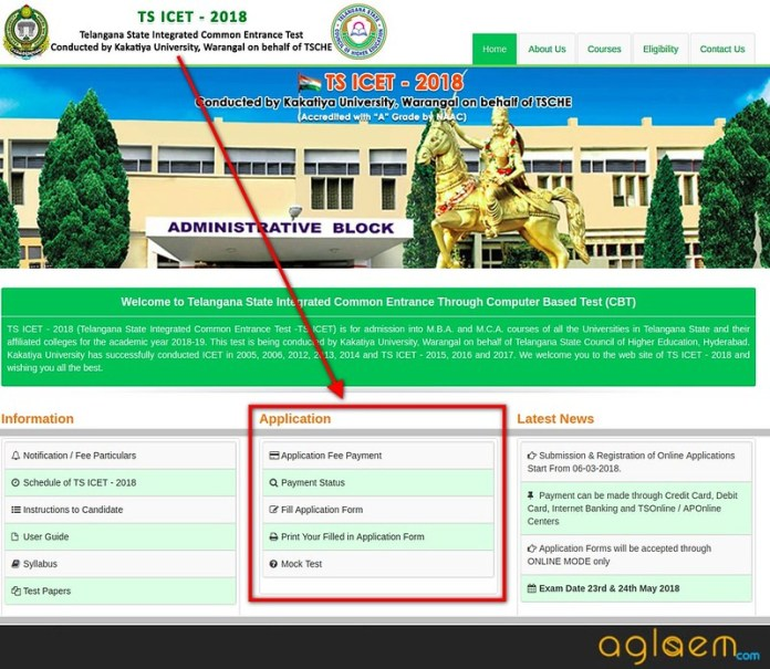 TS ICET 2018 Application Form