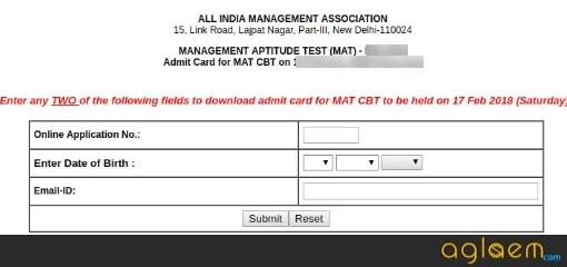 MAT 2019 Admit Card