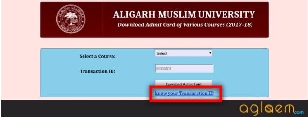 AMUEEE Admit Card 2019