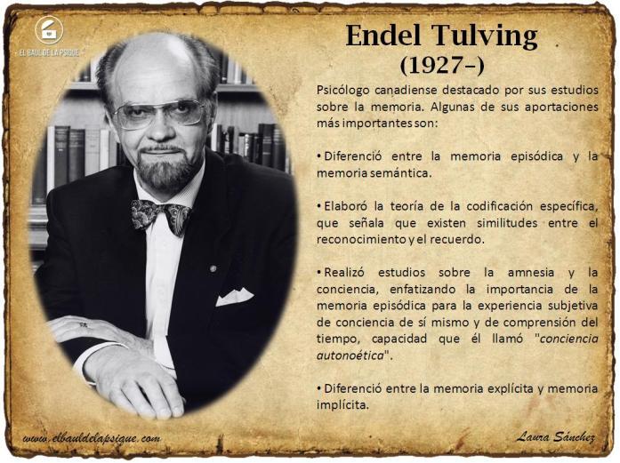 El Baúl de los Autores: Endel Tulving