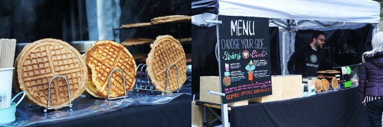 Sweet and Savoury Waffles Stall | gluten free Broadway Market guide | Hackney | East London | Vegan