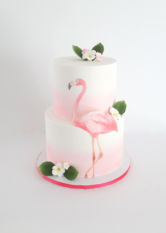 Flamingo Themed Cake  SweetTooth Cakes and Cupcakes  Flickr