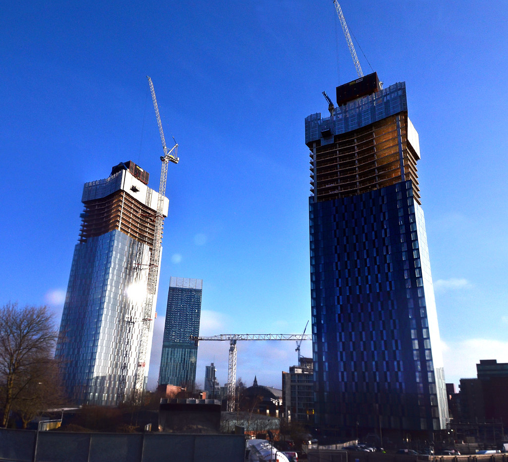 Manchester Deansgate Square Renaker Build apartment Towers
