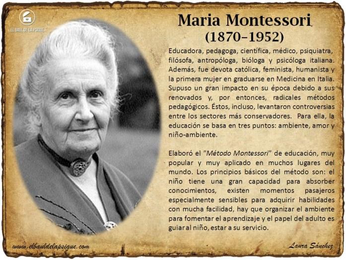 El Baúl de los Autores: Maria Montessori